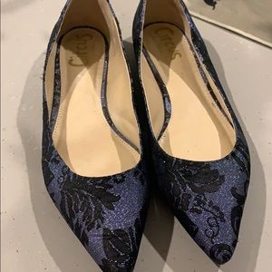 Circus by Sam Edelman Flats- Blue & Black Shimmer